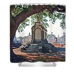 Metairie Cemetery Shower Curtain by Steve Harrington