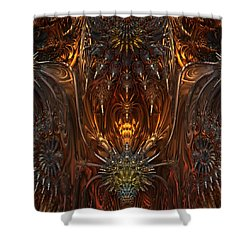 Metal Dragons Shower Curtain by Lyle Hatch
