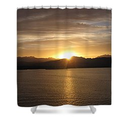Shower Curtain featuring the photograph Mexican Sunset by Marilyn Wilson