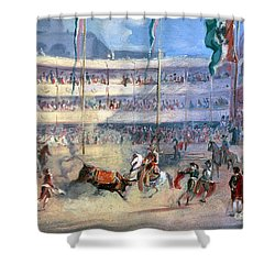 Mexico: Bullfight, 1833 Shower Curtain by Granger