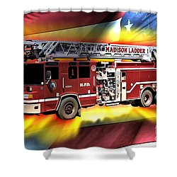 Mfd Ladder Co 1 Shower Curtain by Tommy Anderson