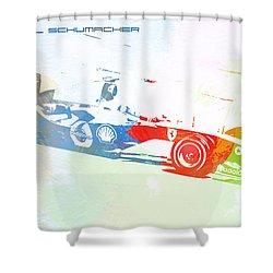 Michael Schumacher Shower Curtain by Naxart Studio