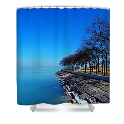 Michigan Lakeshore In Chicago Shower Curtain by Paul Ge