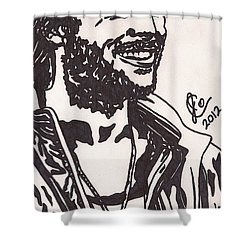 Shower Curtain featuring the drawing Mickey by Jeremiah Colley