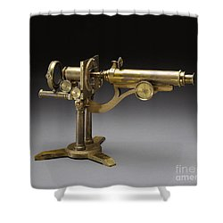 Microscope, 1864 Shower Curtain by Science Source