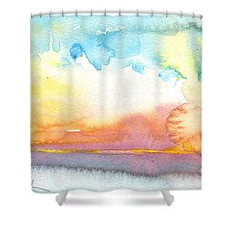 Midday 26 Shower Curtain by Miki De Goodaboom