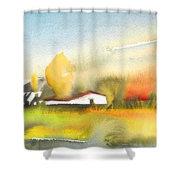 Midday 28 Shower Curtain by Miki De Goodaboom
