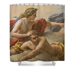 Midday Shower Curtain by Louis Jean Francois I Lagrenee