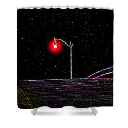 Midnight Run Shower Curtain by David Lee Thompson