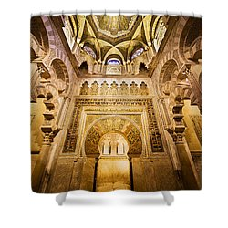 Mihrab And Ceiling Of Mezquita In Cordoba Shower Curtain