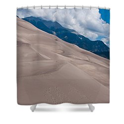 Shower Curtain featuring the photograph Miles Of Sand by Colleen Coccia