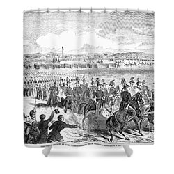 Militia Review, 1859 Shower Curtain by Granger