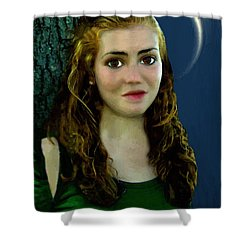 Mina By Moonlight Shower Curtain by RC DeWinter