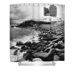 Minard Castle Shower Curtain by Simon Marsden