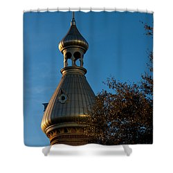 Shower Curtain featuring the photograph Minaret And Trees by Ed Gleichman