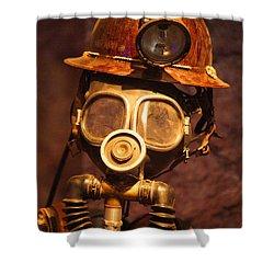 Mining Man Shower Curtain by Randy Harris