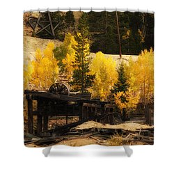 Mining Town Shower Curtain