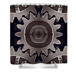 Mirror Gears Shower Curtain by Steve Gadomski
