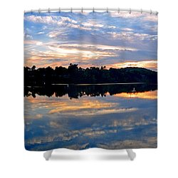 Mirror Mirror On The Water Shower Curtain by Sue Stefanowicz