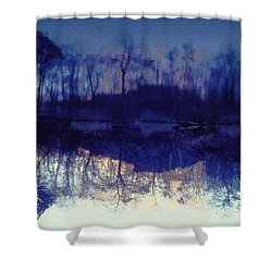 Mirror Pond In The Berkshires Shower Curtain by Tom Wurl
