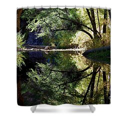 Shower Curtain featuring the photograph Mirror Reflection by Tam Ryan