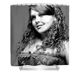 Miss Rachel Shower Curtain by Kathleen Struckle