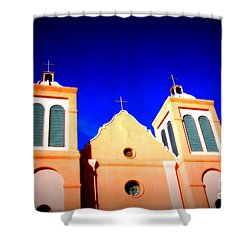 Mission Church Silver City Nm Shower Curtain by Susanne Van Hulst