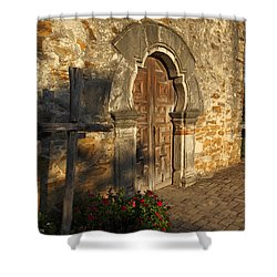 Shower Curtain featuring the photograph Mission Espada by Susan Rovira