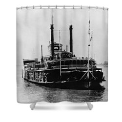 Mississippi Steamboat, 1926 Shower Curtain by Granger