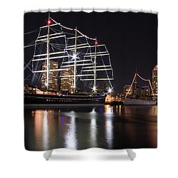 Shower Curtain featuring the photograph Missoula At Nighttime by Alice Gipson