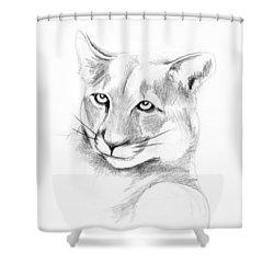 Missouri Mountain Lion  Shower Curtain by Kip DeVore
