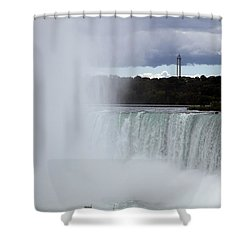 Misty Shower Curtain by Amanda Barcon
