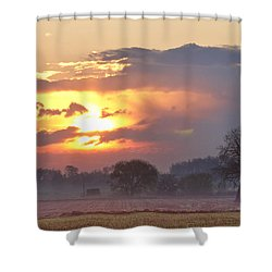 Misty Country Sunrise  Shower Curtain by James BO  Insogna
