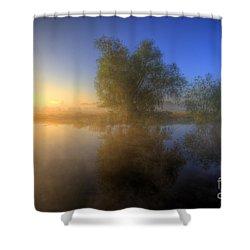 Misty Dawn 1.0 Shower Curtain by Yhun Suarez