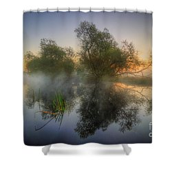 Misty Dawn 2.0 Shower Curtain by Yhun Suarez