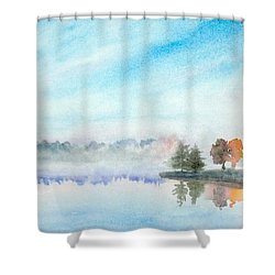 Misty Lake Shower Curtain