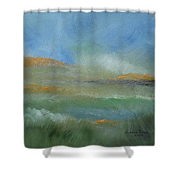 Shower Curtain featuring the painting Misty Morning by Judith Rhue