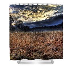 Misty Sunrise Shower Curtain by Mark Six