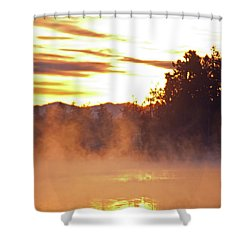 Shower Curtain featuring the photograph Misty Sunrise by Tikvah's Hope