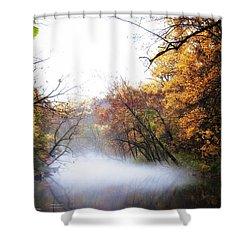 Misty Wissahickon Shower Curtain by Bill Cannon
