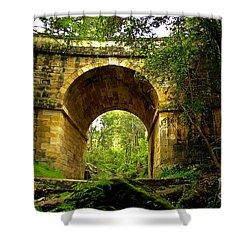 Mitchells Pass Bridge Lapstone A Convict Built Bridge Shower Curtain