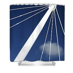 Modern Abstract Structure Shower Curtain by Gaspar Avila
