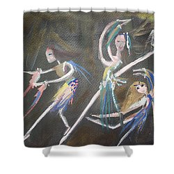 Shower Curtain featuring the painting Modern Ballet by Judith Desrosiers