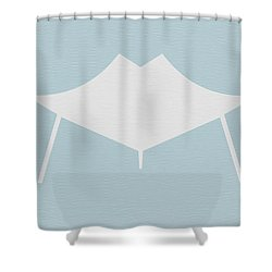 Modern Chair Shower Curtain