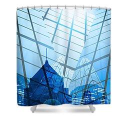 Modern City Shower Curtain by Setsiri Silapasuwanchai