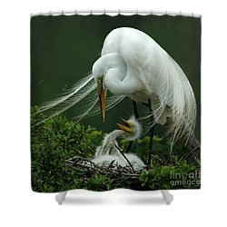 Mom And Me Shower Curtain by Vivian Christopher