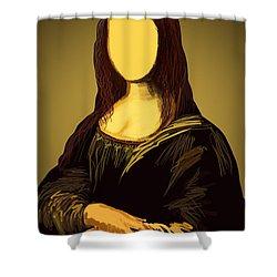 Mona Lisa Shower Curtain by Setsiri Silapasuwanchai