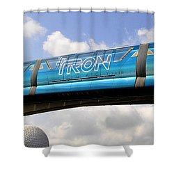 Mono Tron Shower Curtain by David Lee Thompson
