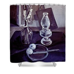 Monotone Still Life 1977 Shower Curtain by Nancy Griswold