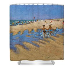 Montalivet France Shower Curtain by Andrew Macara